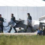 POLICÍA GRIEGA COMIENZA A DESALOJAR EL CAMPAMENTO DE REFUGIADOS DE IDOMENI